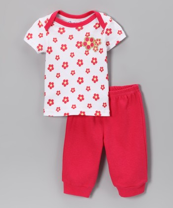 Spencer's Hot Pink Flower Tee & Pants - Infant