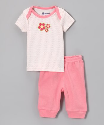Spencer's Light Pink Flower Tee & Pants - Infant