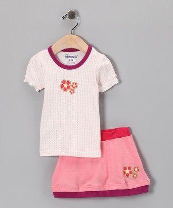 Spencer's Purple Flower Tee & Skirt - Infant