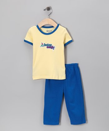 Spencer's Yellow 'Anchors Aweigh' Tee & Blue Pants - Infant