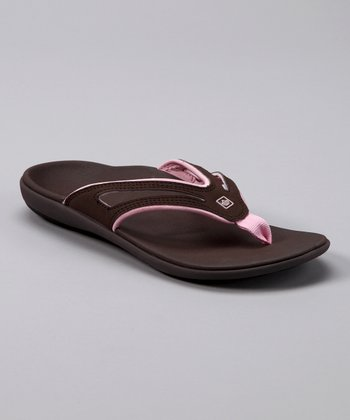 Chocolate & Coral Total Support Quartet Flip-Flop