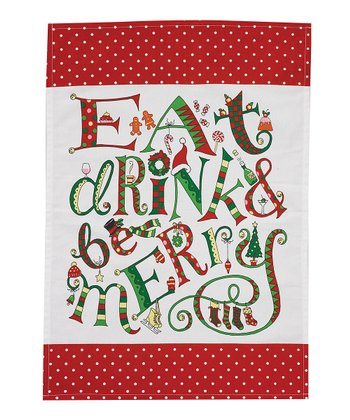 'Eat, Drink & Be Merry' Dish Towel