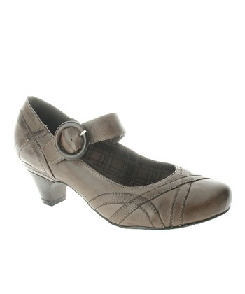 Gray Gidget Mary Jane Pump