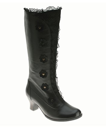 Black Leather Heavenly Boot