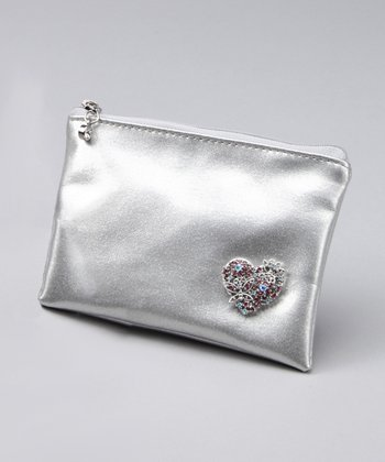 Silver Love is in the Air Small Cosmetic Bag