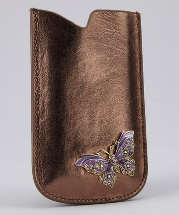 Bronze Butterfly Jewel iPhone Case