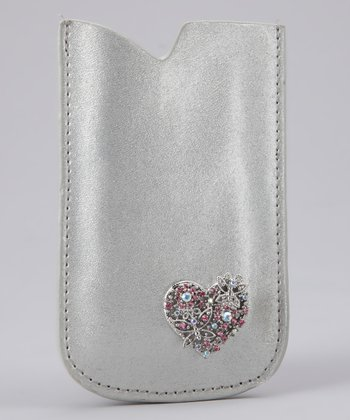 Silver Love Is In the Air iPhone Case