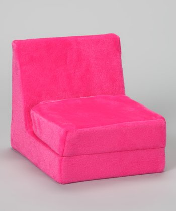 Pink Plush Doll Flip Chair