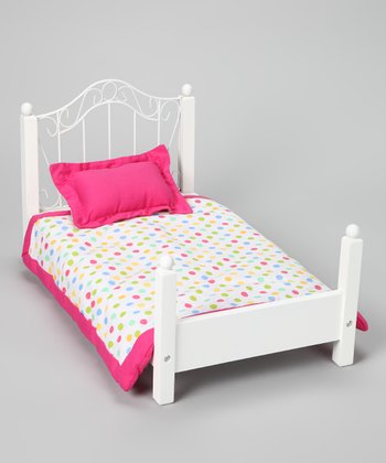 Doll Bed & Bedding Set