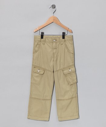 Khaki Cargo Pants - Boys