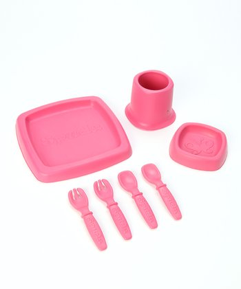 Pink Seedling Feeding Set