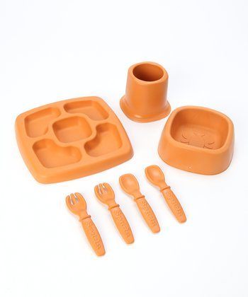 Orange Sprout Feeding Set