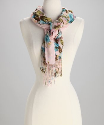 Light Pink Rose Garden Scarf