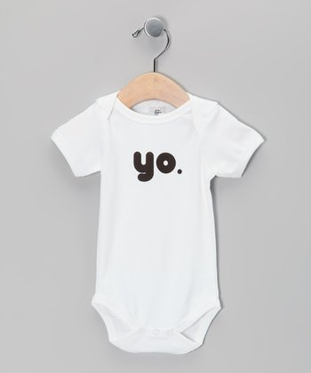 White 'Yo' Organic Bodysuit - Infant