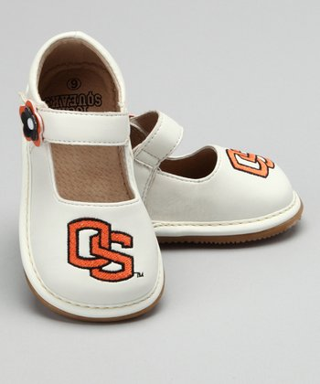 White Oregon State Squeaker Mary Jane