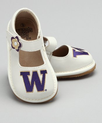 White University of Washington Squeaker Mary Jane