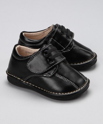 Black David Dress Squeaker Shoe - Boys