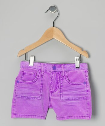 Violet Corduroy Shorts - Girls