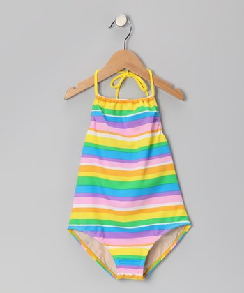 Rainbow Stripe Carter One-Piece - Girls