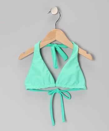 Squirtini Bikini Squirtini Bikini Seafoam & Mint Reversible Bikini Top - Girls