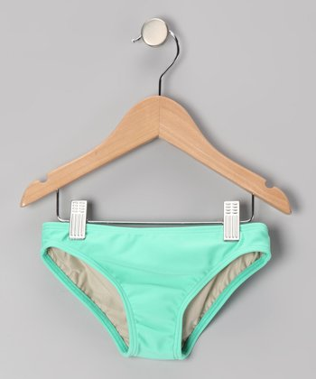 Squirtini Bikini Mint Mackenzie Hipster Bikini Bottoms - Girls