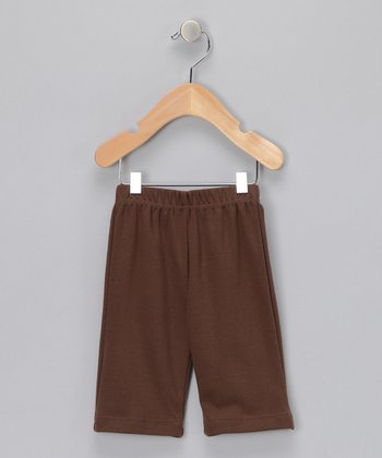 Brown Organic Elastic-Waist Pants