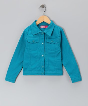 Ocean Blue Denim Jacket - Toddler & Girls