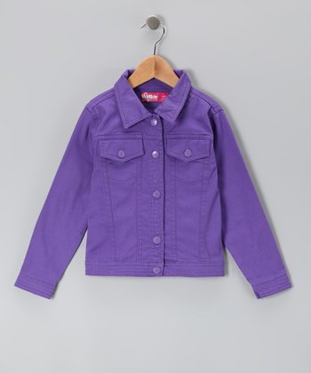 Grape Denim Jacket - Toddler & Girls