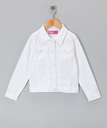 White Denim Jacket - Toddler & Girls