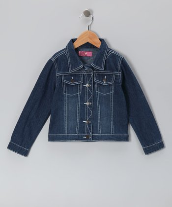 Dark Medium Denim Jacket - Toddler & Girls