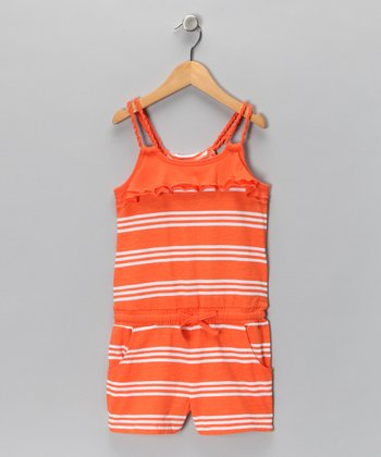 Clementine Stripe Romper - Girls