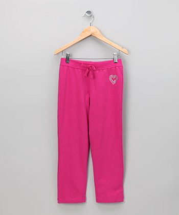 Pink Heart Sweatpants - Toddler