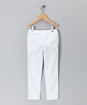 White Skinny Jeans - Toddler & Girls