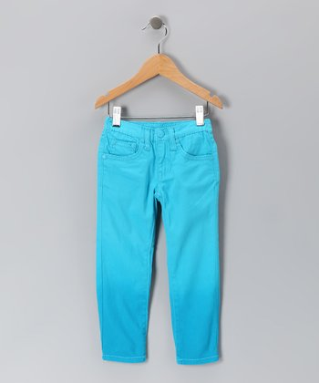Blue Dip-Dye Skinny Jeans - Toddler & Girls