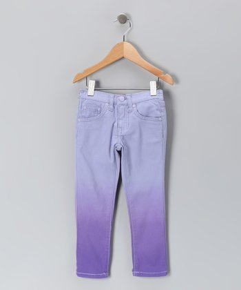 Lavender Dip-Dye Skinny Jeans - Toddler & Girls