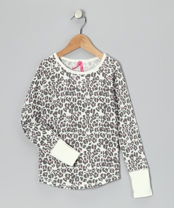 Starch White Cheetah Thermal - Toddler