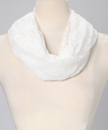 Light Ivory Lace Infinity Scarf