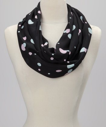 Black Dot Infinity Scarf