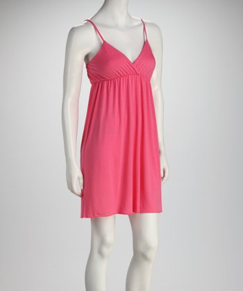 Coral Surplice Dress
