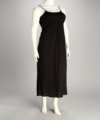 Black Plus-Size Maxi Dress