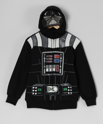 Star Wars Black Darth Vader Zip-Up Hoodie - Boys