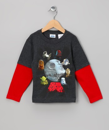 Death Star Layered Tee - Toddler & Boys