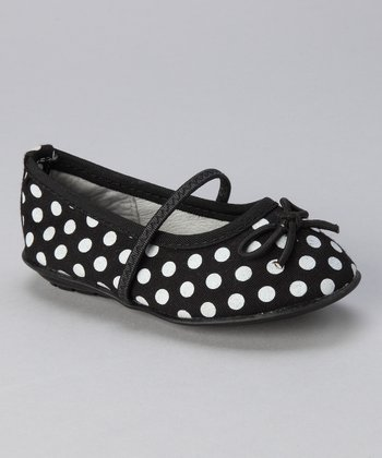 Black & White Polka Dot Seattle Flat