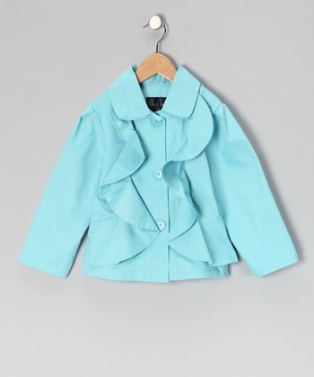 Blue Ruffle Jacket - Infant, Toddler & Girls