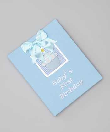 Blue 'Baby's First Birthday' Hardcover 4'' x 6'' Photo Book