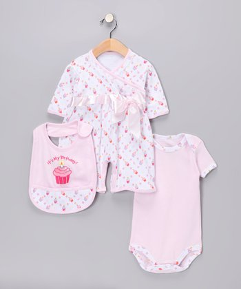 Pink Birthday Layette Set