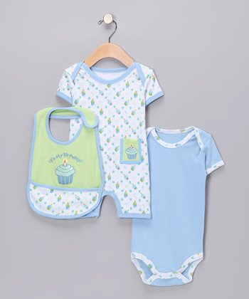 Blue Birthday Layette Set