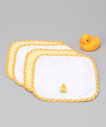 Yellow Ducky Bathtub Set