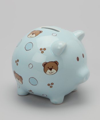 Light Blue Bear Piggy Bank