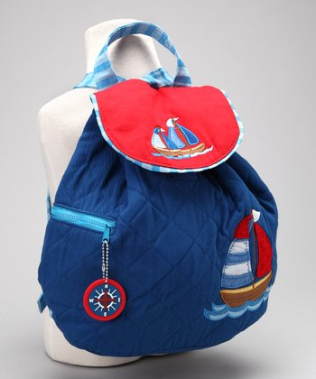 Nautical Quilted Backpack